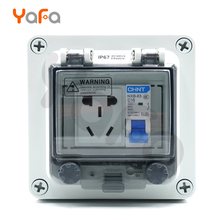 Distribution box ,Five Holes,Two Or Three Sockets, 10A Outdoor Socket waterproof Box,waterproof switch box With Leakage IP67