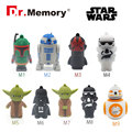 Star wars USB flash drive R2D2 pendrive 16g flash stick 8g memory drive 4g usb 2.0 Disk 32g Memoria card  good quality USB stick