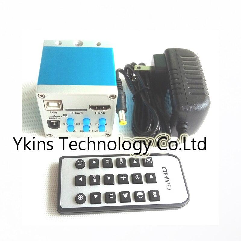 Пульт дистанционного управления 1080 P 16MP HDMI USB Запись карты памяти промышленная видео-микроскоп Камера видео Регистраторы электронные платы ...