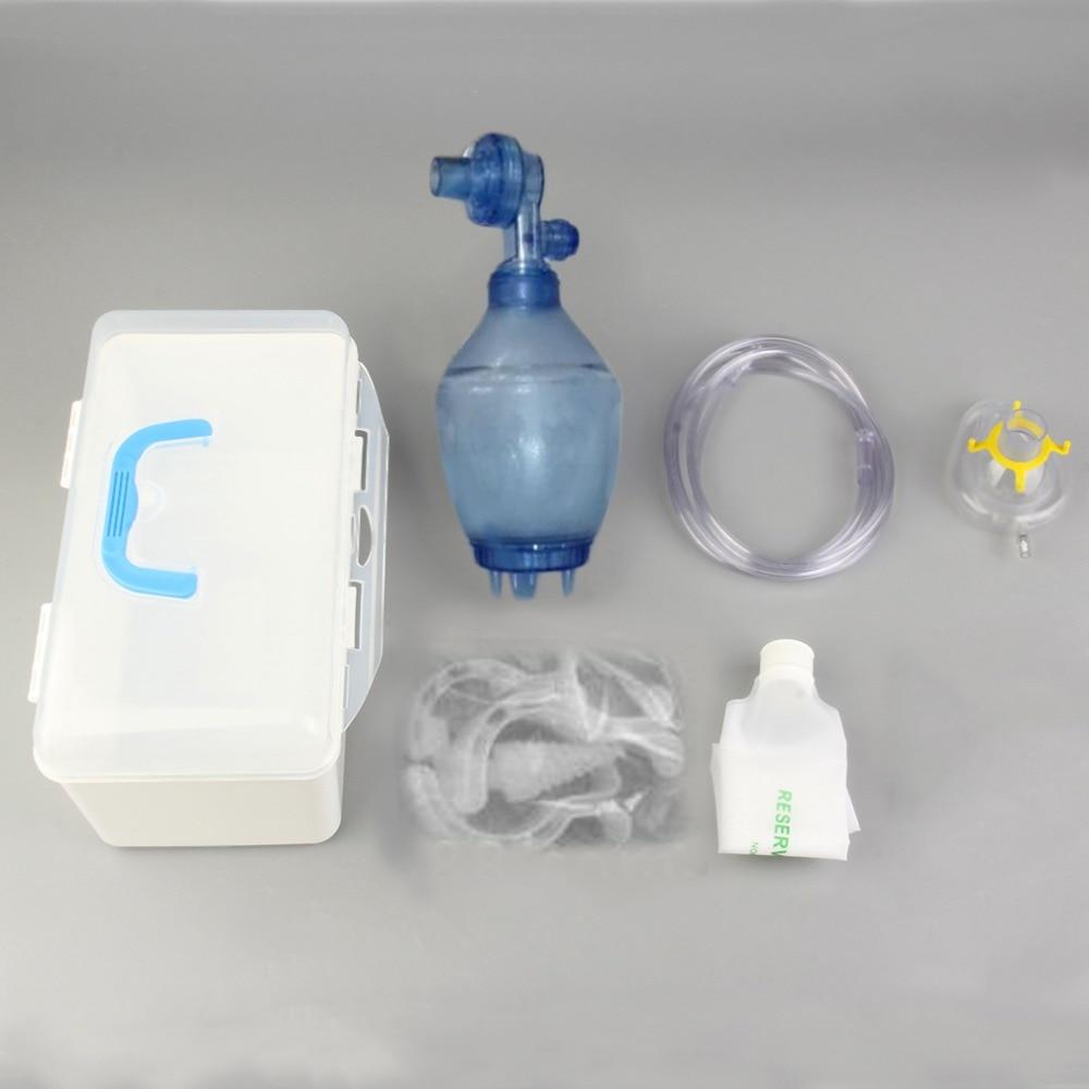 Manual Resuscitator PVC Kid Ambu Bag + Oxygen Tube First Aid kit Oxygen Tube and Reservoir Bag PVC Bag and Transparent Mask сумка overboard ob1007b dry tube bag 40л