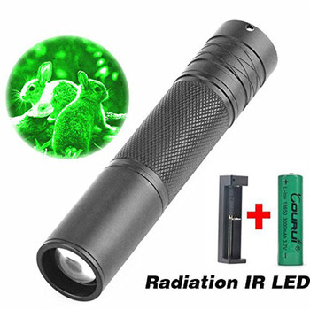 New Outdoor Bike Bicycle Light Flashlight 5W 850nm LED Infrared IR Flashlight Torch Zoomable for Night Vision Scope +BatteryC3