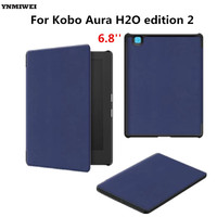 Leather Case For Kobo Aura H2O Edition 2 6 8 Stand Flip Magnetic Cover Case For