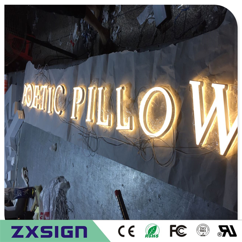 Factory Outlet  mini acrylic led illuminated letters, luminous led words signs business shop name signboards
