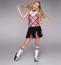 Gymnastics Leotard For Girls Ballet Tutu Female For Scottish Tartan Dress Dance Clothes Suit Original Single