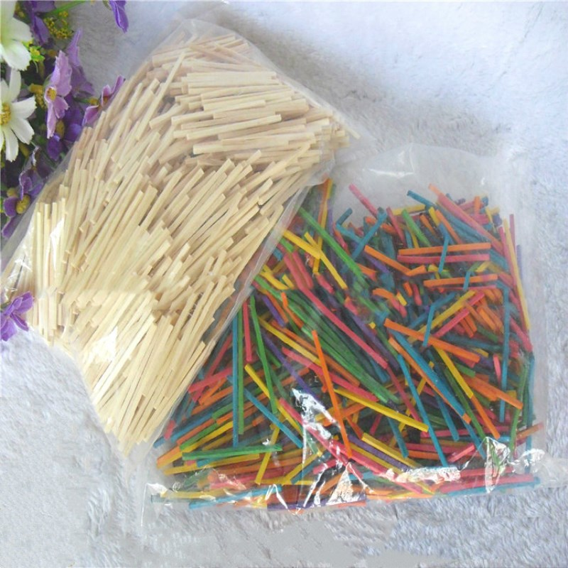 200 Pcs Puzzle 3d Wood Stick Match Rod DIY Wood Craft For Kids Mini Puzzle Wooden Interactive Educational Toys Wooden Ornaments