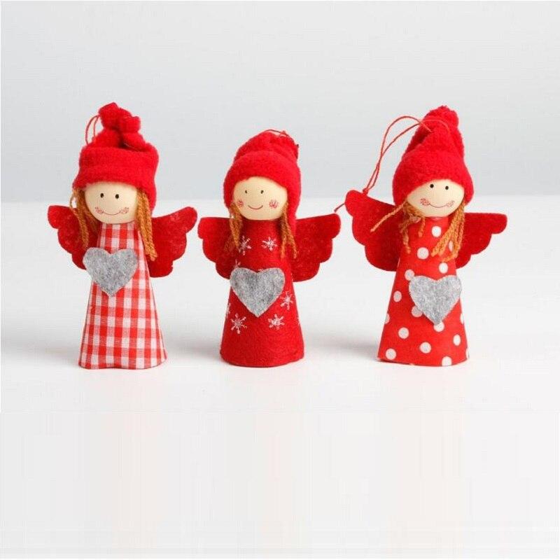 3 шт. милый ангел Обувь для девочек Chriatmas падение Украшения красный Вешалки для Рождество елка украшения партия белый Эльф Обувь для девочек …