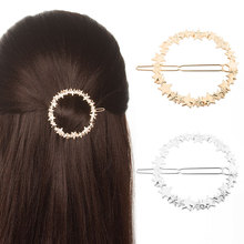 Hot Sale Women Girls Fashion Simple letter shape Metal Hair Clips alloy Hairpins Female Styling Accessories F022