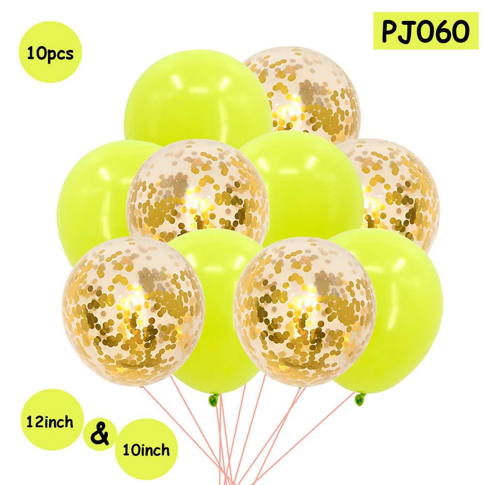 10 pc Mixed Konfetti Ballons Geburtstag Party Dekoration Kinder Erwachsene Hochzeit Baby Dusche Bachelorette Liefert Valentines Tag Decor