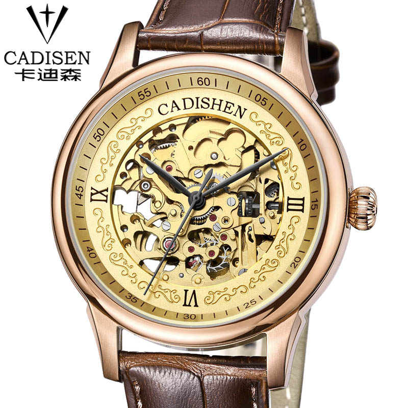2016 Watches Men Luxury Top Brand cadisen Mechanical Watch Fashion business Sapphire sport casual Wristwatch relogio masculino