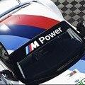 M emblema Rendimiento etiqueta del parabrisas del coche para BMW E36 E46 E60 E90 F30 F30 F18