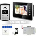 "Chuangsafe - New Wired Home 7"" Video Intercom Door Phone System 1 Monitor + 1 RFID Access Camera + Remote Controller In Stock"