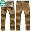 AFS JEEP Nian Outono dos homens reta Geral Pant, 100% Algodão homem ocasional Calças de Carga, Outono marca Original grosso Casual Pant