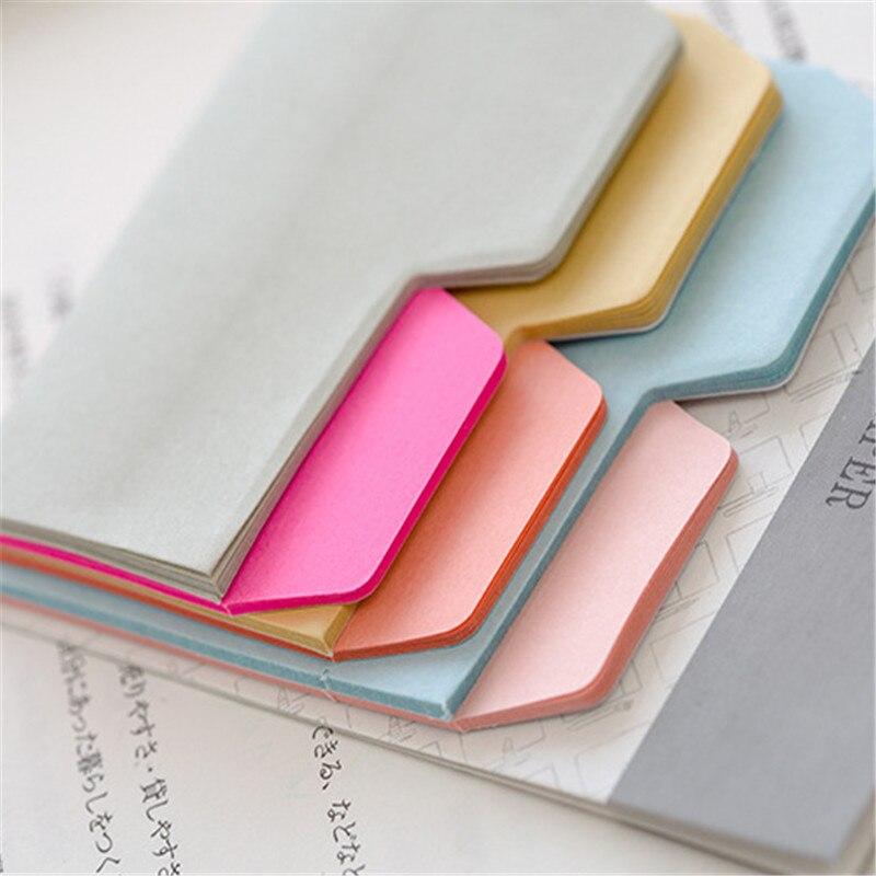 Simple 6 couleurs Index Note papier auto-adhésif N fois bloc-notes Note collante signet Page marqueur école fournitures de bureau papeterie