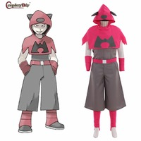 Anime SPECIAL Pocket Monsters Pokemon Team Magma Cosplay Uniform Unisex Costume Halloween Carnival Clothes