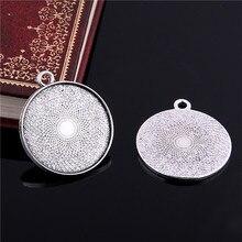 15 pçs antigo metal liga de zinco caber 28mm diâmetro redondo pingente cabochão ajuste jóias pingente espaços em branco cabochão base 7d1234