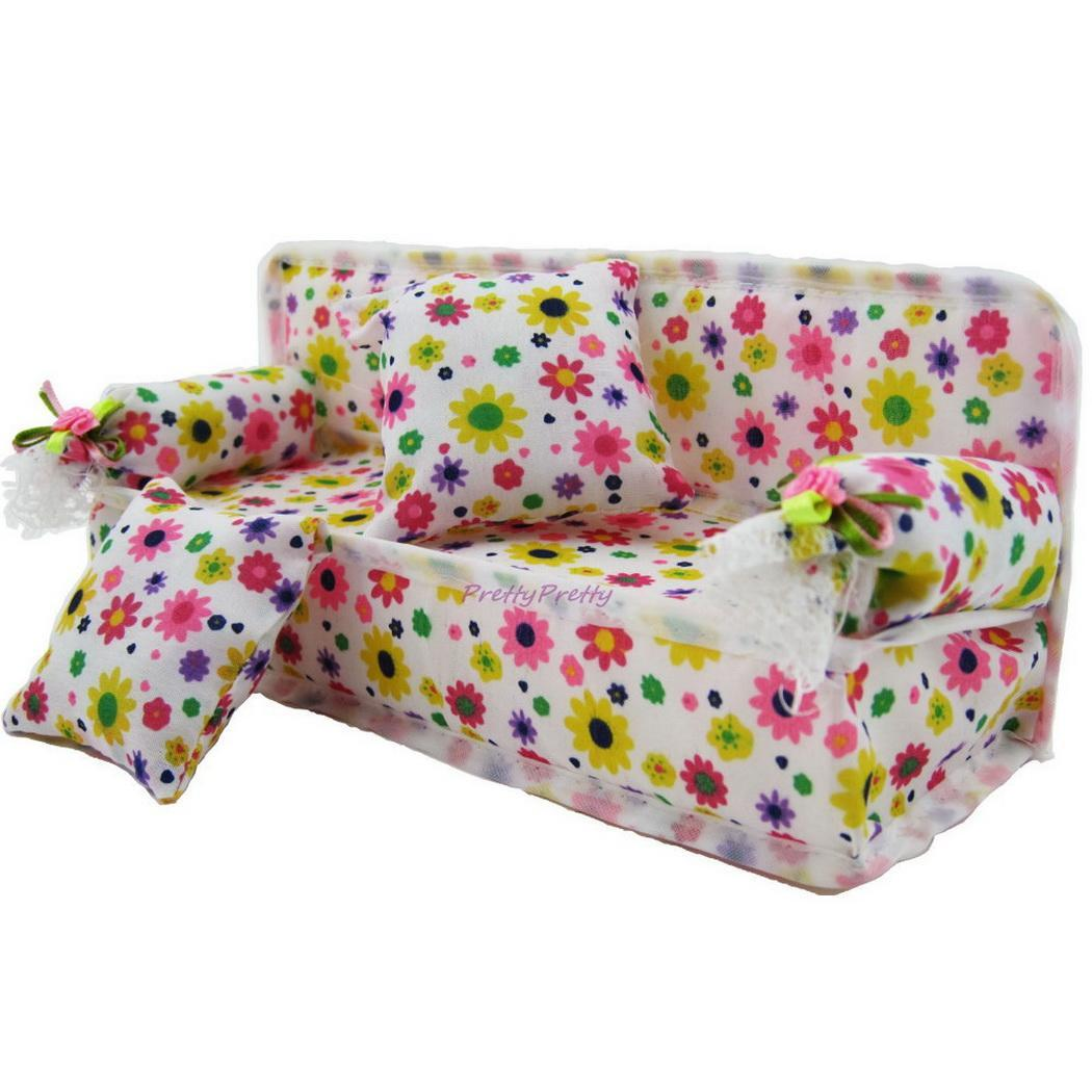 1 Pc Children Toy Floral Mini Sofa Toy Soft  Cushions Doll Toy Set