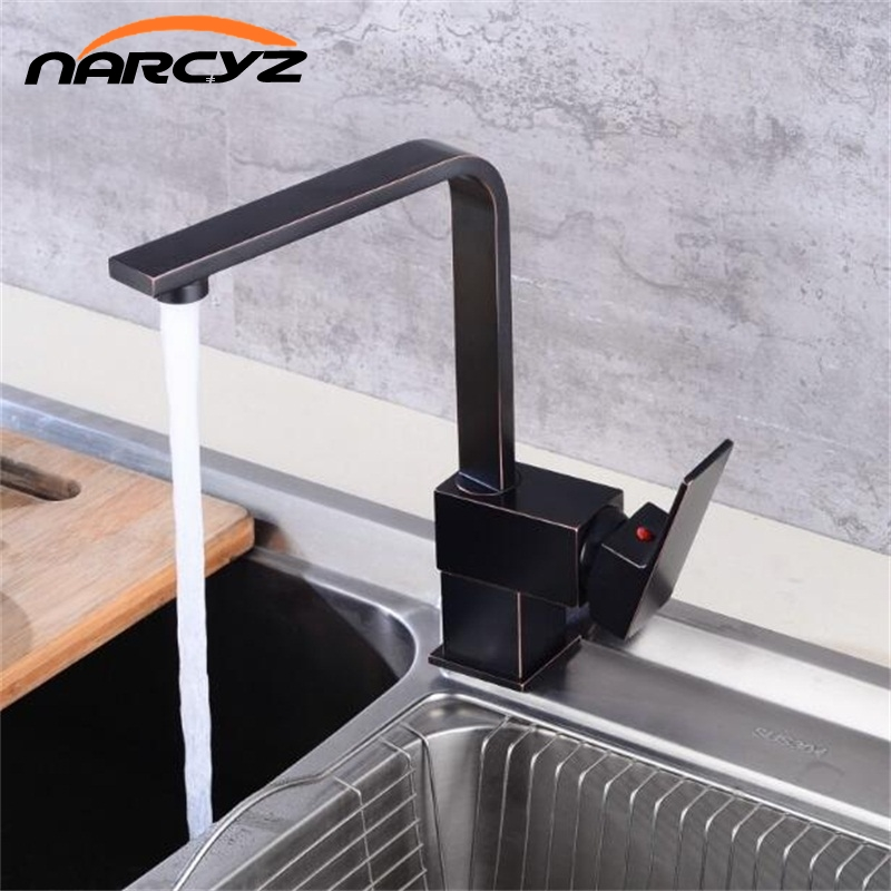 Multiple Choices Kitchen Faucet Kitchen Cold And Hot Water Tap Black Deck Mounted 360 Degree Rotating