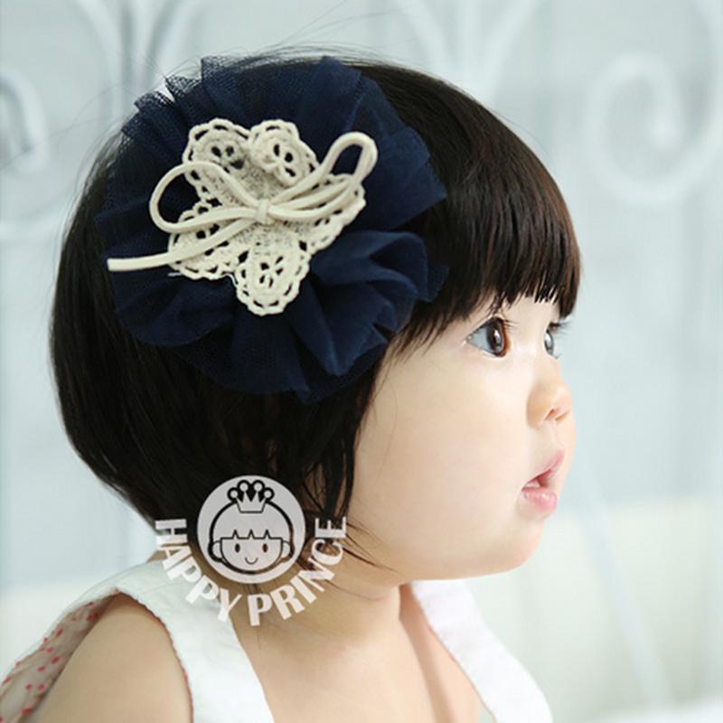infants lace cute big flower hair