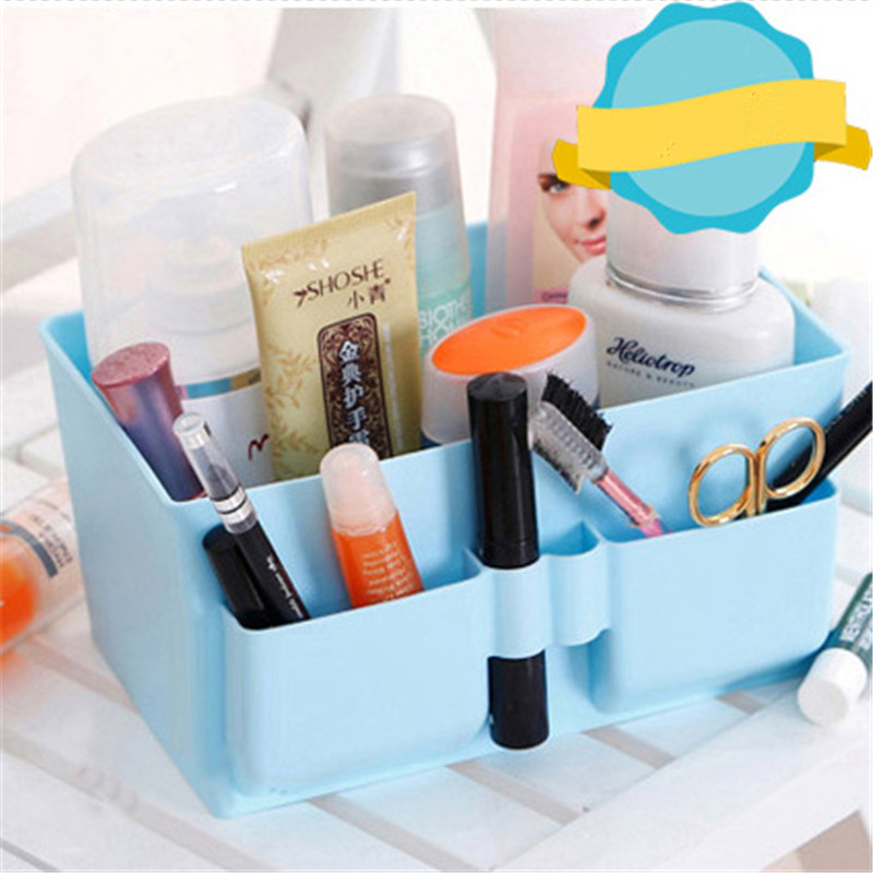 1pcs Multi-functional Cosmetic Storage Box Jewelry Case Box Plastic Desk Home Office Sundries Storage Container Organizer