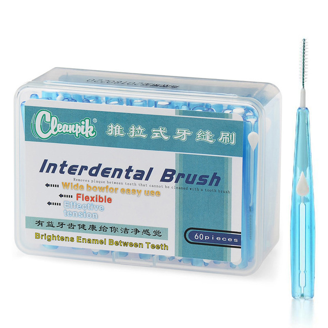 Oral Care Push Pull Interdental Brush Orthodontic Wire Toothbrush ...