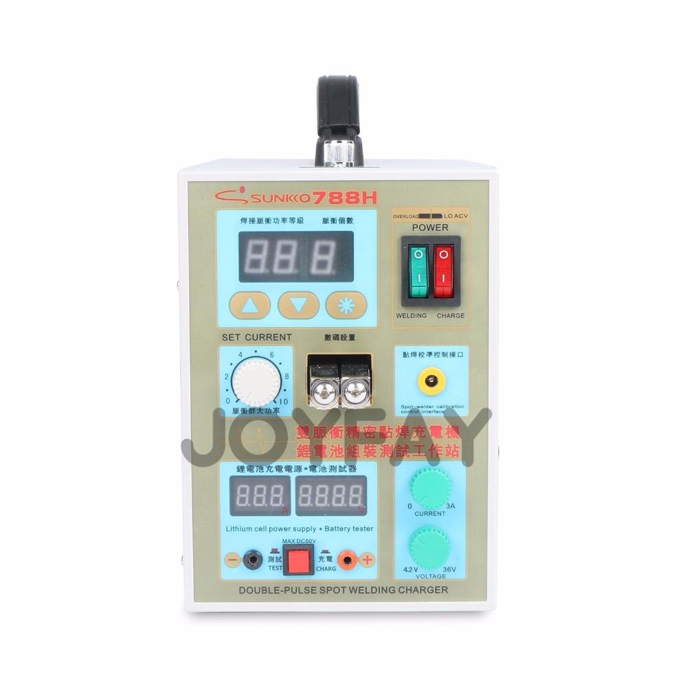 Sunkko 788H akkumulátoros ponthegesztő impulzushegesztő gép 18650 akkumulátor-töltőhöz 0,05 - 0,2 mm