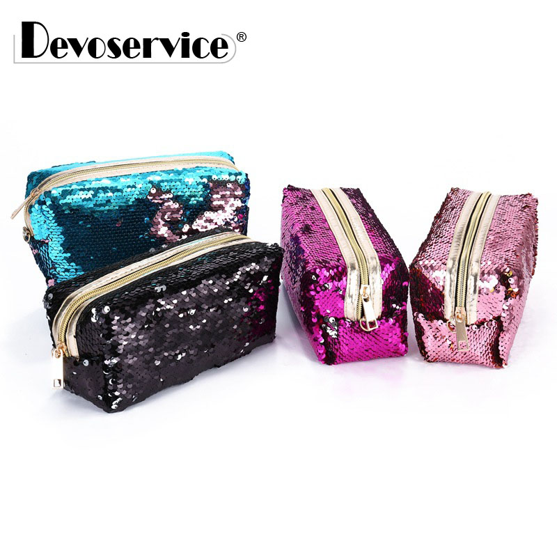 New Pencil Case Color Changing Reversible Sequins ...