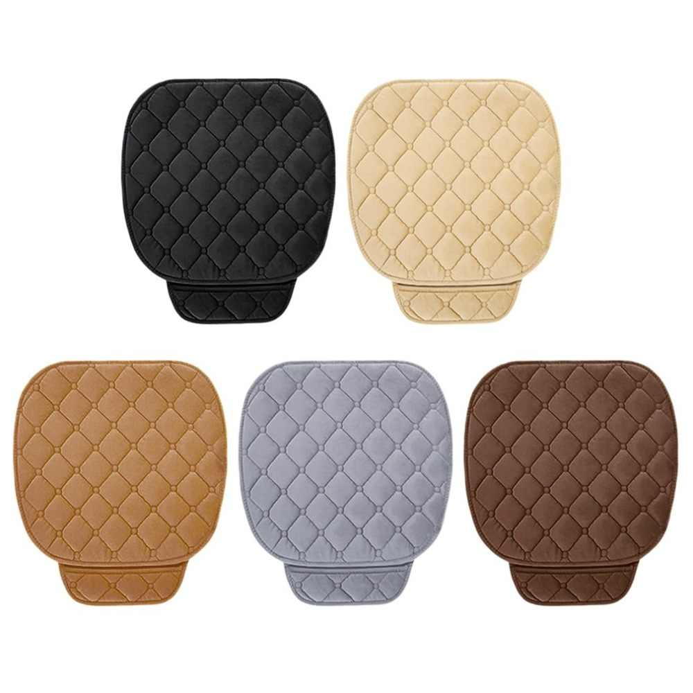 Winter Keep Warm Car Front Seat Coves Mats Solid Color Vehicles Front Seat Covers Anti-slip Car Interior Styling Seat Cover