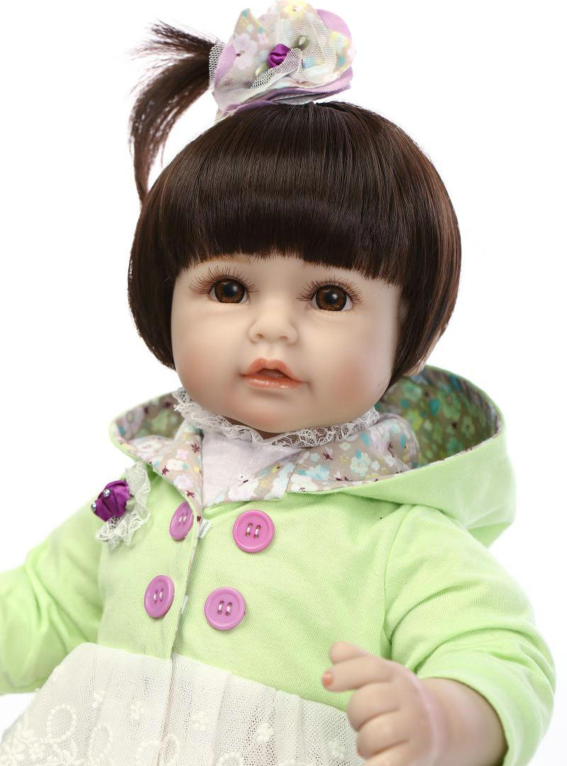 ФОТО NPKCOLECTION new arrival 50cm reborn dolls toddler baby girl  silicone limbs and cloth body lifelike cute little princess