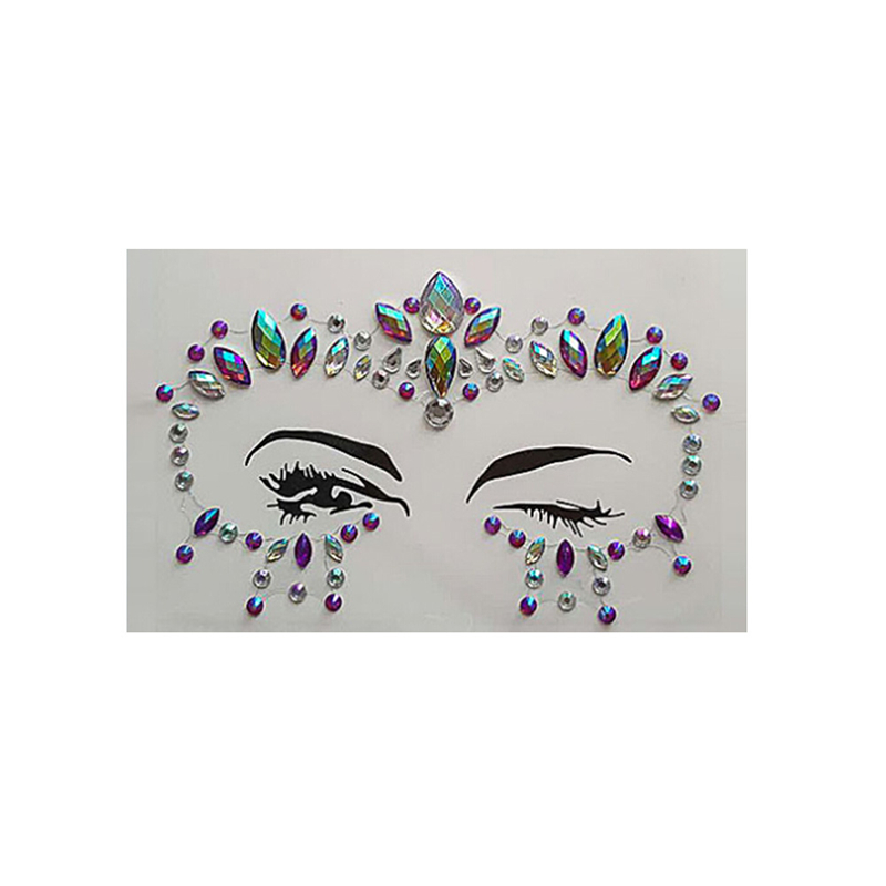 0ead3864e4 Aliexpress.com : Buy Crystal Tattoos Face Jewels Festival Rhinestones Gems  Stickers Body TemporaryBindi Eyes Stones Mermaid for Rave Party Face Rocks  ...