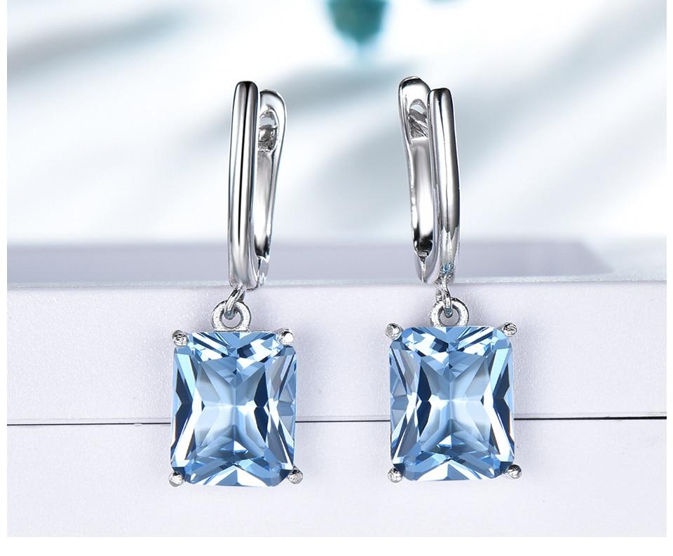 UMCHO ?Nano Sky Blue Topaz 925 sterling silver earring for women EUJ094B-1-pc (5)