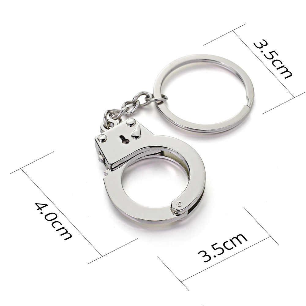 Dalaful мини размер брелок наручники брелок металлический креативный моделирование наручники модель для автомобиля брелок держатель подарки K363