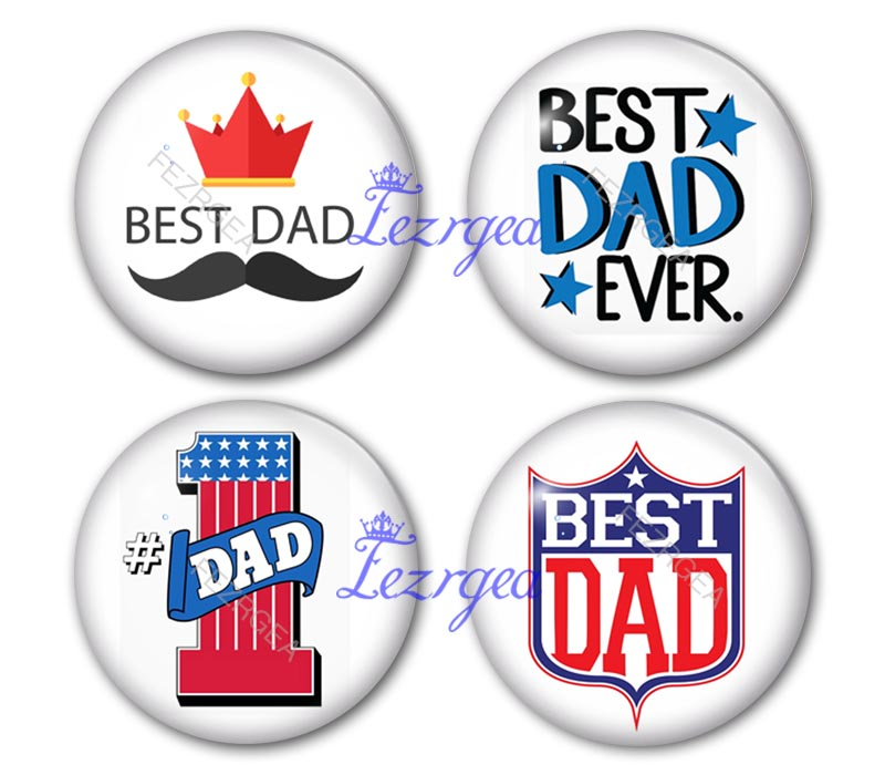 Best dad Glass Cabochon, Word best dad glass cabochons,DIY Handmade Jewerly Finding Cabochon Setting Wholes image