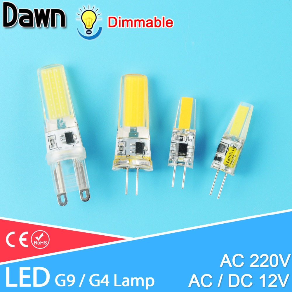G4 Led Dimmable G9 Led Lamp COB 6W 10W AC/DC 12V 220V LED Corn Light Replace Halogen Lamp Led Bulb Crystal Chandelier Lampada