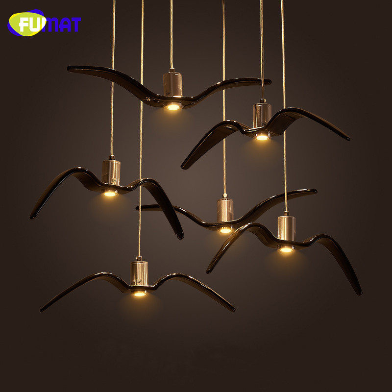 Fumat seagull pendant lights nordic industrial hanging for Suspension 3 lampes industriel
