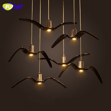 FUMAT Seagull Pendant Lights Nordic Industiral Hanging Lamps Dinning Room Suspension Light Bar Study Resin Bird Pendant Light цена