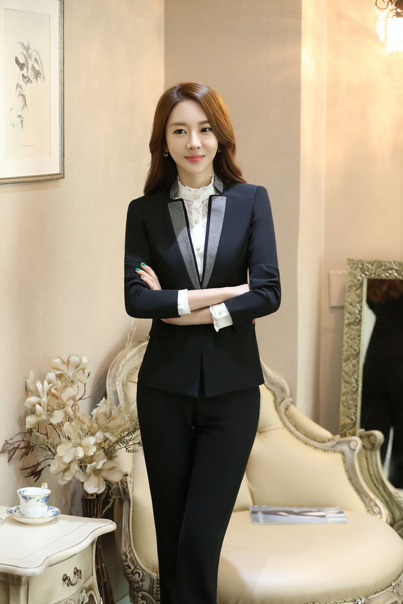 New Arrival Custom made Women Business Suits Formal Office Suits Work Long Sleeve Knee Length Suits For Women