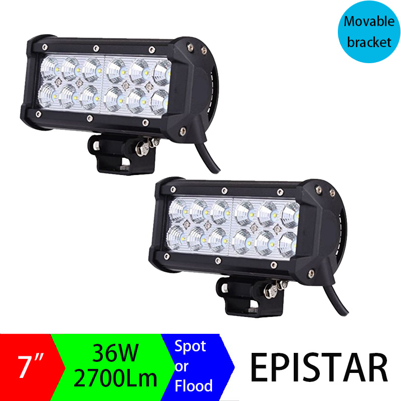 Pair 7inch 36W LED Light Bar Off road Truck SUV 4WD 4X4 Driving Fog Work Light Bar Auto DRL Motorcycle Headlights for Tractor
