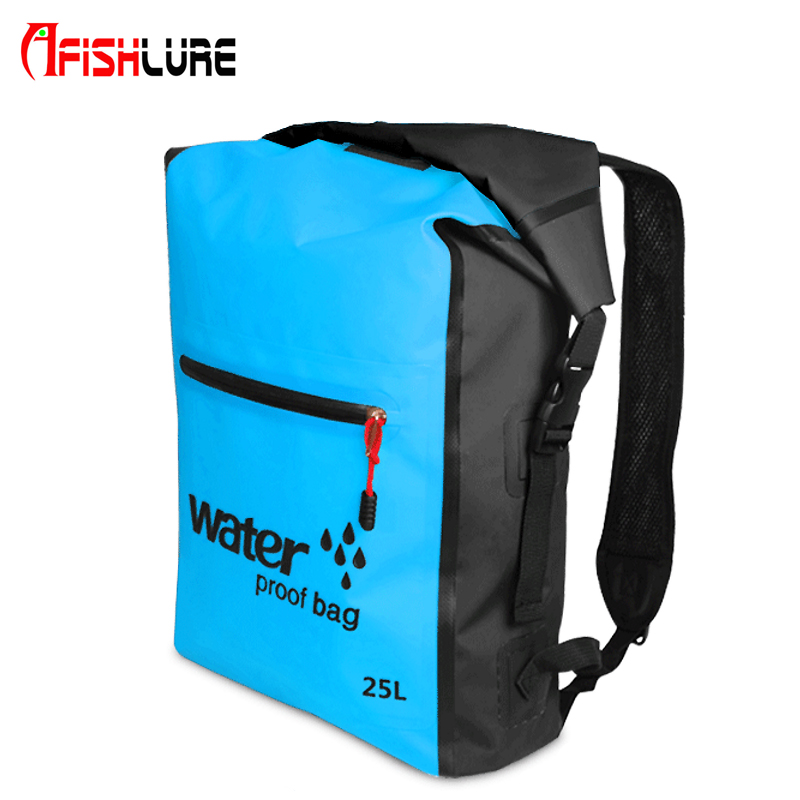 25L Outdoor Waterproof Dry Bag Backpack Sack Storage Bag Rafting Sports Kayaking Canoeing Fishing Bags Travel Kits Backpacks