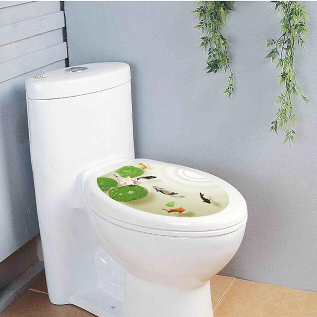 Creative Bathroom Toilet Decorations Stickers,Fashion Cute Fish ...