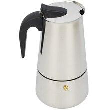 Мока-кофеварка percolator латте эспрессо кофеварка чашки плита горшок кофе нержавеющей стали
