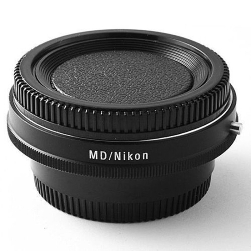 Camera Lens Adapter with Optical Glass Infinity Focus f Minolta MD MC Mount Lens to Nikon DSLR D750 D610 D5600 D7000 D7200 D800 fotga md eosm minolta md mc lens to canon m mount adapter black silver