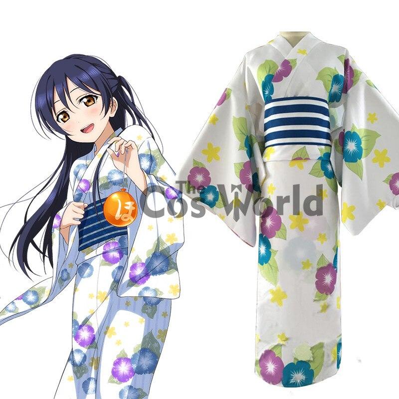 daf1aec42234 Love Live Sonoda Umi Yukata Kimono Dress Bathrobe Uniform Outfit Anime  Cosplay Costumes