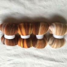 WFPFBEC 4 цвета Австралия 20um овца шерсть волокно игла для валяния шерсть для войлока Шерсть-ровинг 10 г/20 г/50 г/100 г/цвет