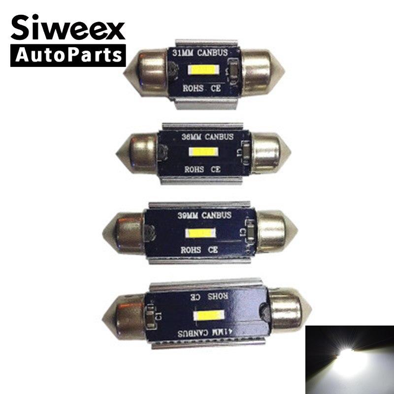 1x voiture Festoon C5W 1860 SMD ampoule canbus 31mm 36mm 39mm 41mm 12 V lampe d'éclairage LED dôme intérieur lecture des lumières de plaque d'immatriculation