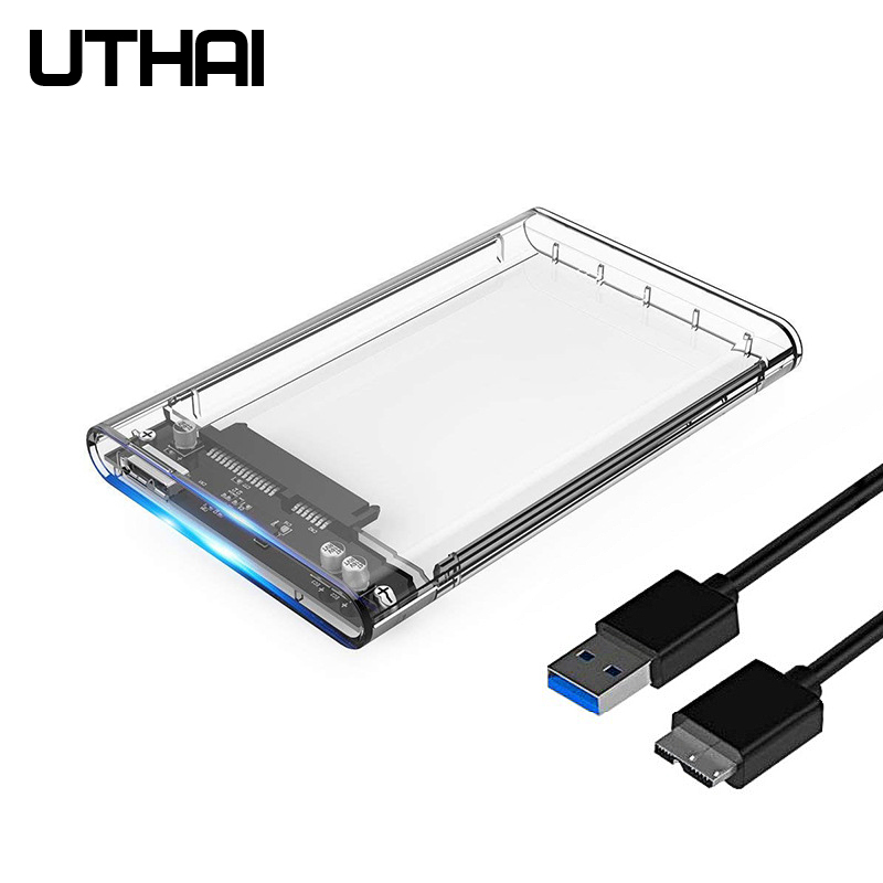 UTHAI G06 USB3.0 Hard Disk Box 2.5 Inch Serial Port SATA SSD Mechanical Disk Support 6TB Transparent Mobile External HDD Case