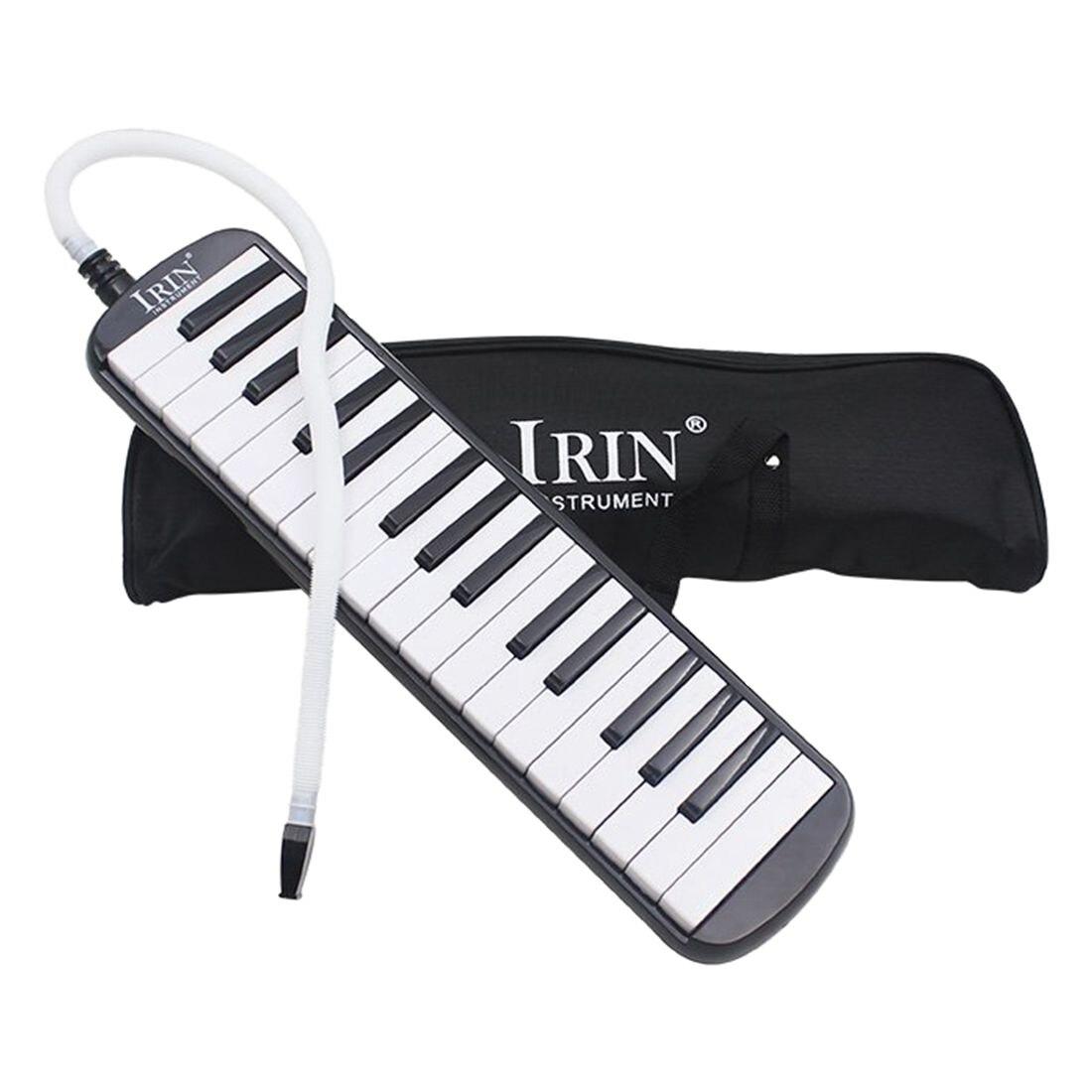 IRIN 1 satz 32 Schlüssel Klavier Stil Melodica Mit Box Orgel Akkordeon Mund Stück Schlag Key Board (Schwarz)
