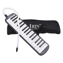 IRIN 1 set 32 Key Piano Style Melodica With Box Organ Accordion Mouth Piece Blow Key Board (Black)