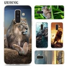 Transparent Soft Silicone Phone Case Chimpanzee lion dog Anima for Samsung Galaxy A9 A8 Star A7 A6 A5 A3 Plus 2018 2017 2016