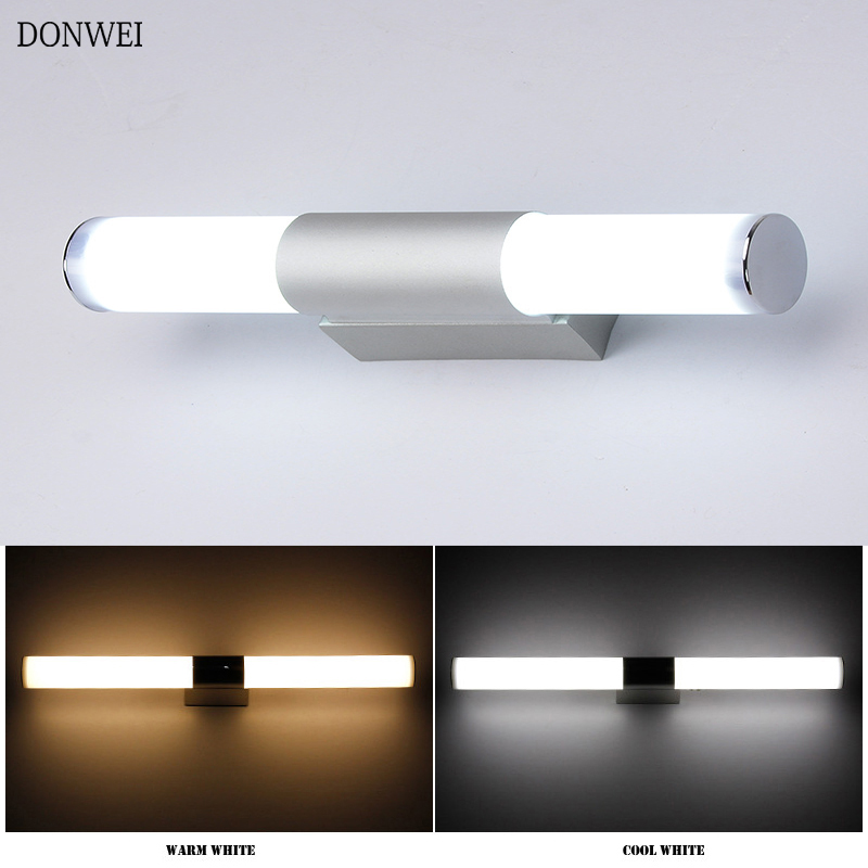 DONWEI 12W 16W 22W LED Wall Light Mirror Lights Indoor Decor Simple Style Bathroom Dressing Room Kitchen Wall Lamp AC85-265V