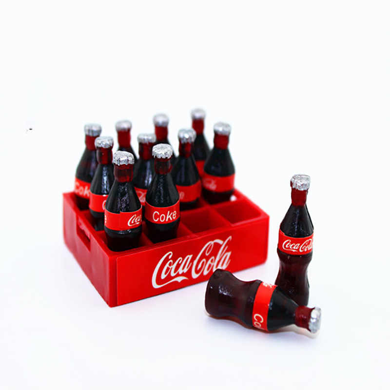 1:12 dollhouse miniature 12pcs a dozen drink soda candy food toy match for New collectible Gift 2018